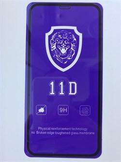 Защитное стекло iPhone XR / 11 11D Lion черное тех. упаковка - фото 7140