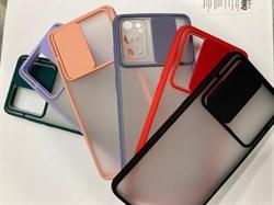 Чехол iPhone 12 / 12 Pro матовый с цветными краями и защитой камеры раздвижное окно в ассорт - фото 7318