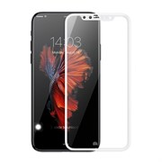 Защитное стекло iPhone X / XS 5D белое тех. упаковка