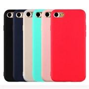 Чехол iPhone 7 (вид 7) TPU матовый черный