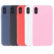Чехол iPhone XS (вид 7) TPU матовый розовый