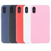 Чехол iPhone XS (вид 7) TPU матовый черный