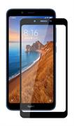 Защитное стекло Xiaomi Redmi 7A 5D Full Glue черное (датчик приближения не будет работать)