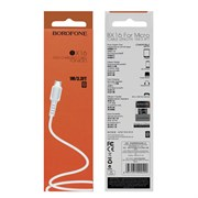 USB кабель Micro USB Borofone BX16 белый