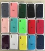 Чехол iPhone XR Silicone, закрытый низ, без логотипа, цвета в ассорт