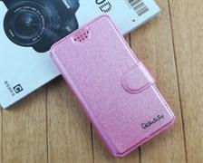 Чехол универсальный книжка с визитницей #3 4.5-4.8 розовый
