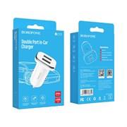 АЗУ USB адаптер BOROFONE BZ12 5V/2.4A белый
