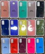 Чехол Samsung A51 Silicone закрытый низ цвета в ассорт.