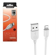 USB кабель iPhone (lightning) Borofone BX14 белый